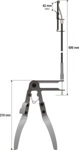 Cleste Pentru Coliere YATO cu Cablu [2]