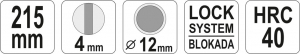 Cleste Pentru Sigurante Furtun YATO, Varf Indoit, 215mm3