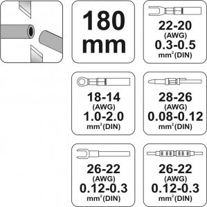 Cleste Sertizat Conectori YATO, 180mm2