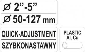 Cleste Taietor Tevi YATO, 2-5, 50 - 127mm3