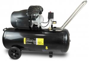 Compresor de Aer PANSAM, 100l, 2.3kW, 8bar, 2 Cilindrii, 412 l/min0