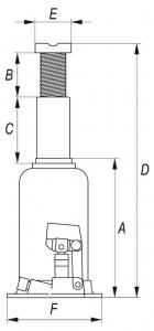 Cric Hidraulic YATO, 15T, 231-498mm1