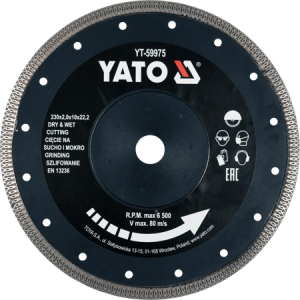 Disc diamantat YATO, turbo, ultra-subtire, 230mm [0]
