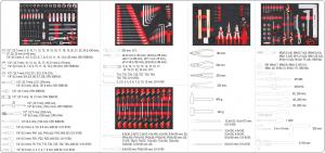 Dulap Scule Profesional YATO, 7 Sertare, Echipat 211 Piese10
