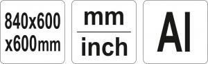 Echer Pliabil YATO, Aluminiu, 840 X 600 X 600mm4