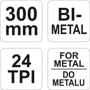 Fierastrau cu Cadru Metalic YATO, 24TPI, 300mm2