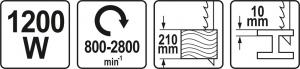 Fierastrau electric YATO, tip sabie, 1200W [7]