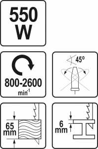 Fierastrau pendular YATO, 550W, 800-2600rpm5