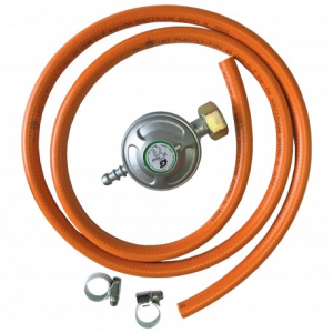 Kit VENUS DSH, pentru butelie gaz, Regulator presiune + Furtun 1.5m + 2 Coliere0