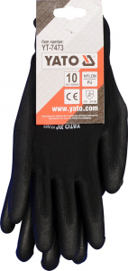 Manusi protectie YATO, nylon/cauciuc, marimea 10, negru3