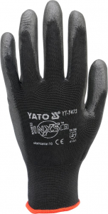 Manusi protectie YATO, nylon/cauciuc, marimea 10, negru1