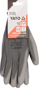 Manusi protectie YATO, nylon/PU, marimea 10, gri1