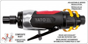 Masina de Polizat Pneumatica YATO, 6.3 Bar, 1/4 inch [2]