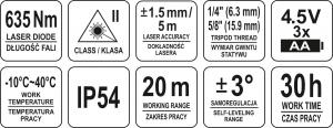 Nivela Laser YATO, in 5 Puncte, 20m [5]