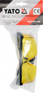 Ochelari de protectie YATO, lentila galbena, protectie UV [1]