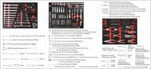 Pachet YATO, Banc de Lucru profesional, 3 sertare, Echipat 162 piese + Lampa cu magnet, reincarcabila, 37led, 85lm9