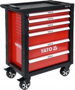 Pachet YATO, Dulap scule profesional, 6 sertare, echipat 177 piese + Polizor unghiular Yato, 850W, 125mm [2]
