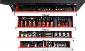 Pachet YATO, Dulap scule profesional, 6 sertare, echipat 177 piese + Polizor unghiular Yato, 850W, 125mm [4]