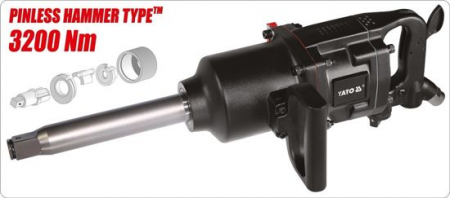 Pistol Pneumatic YATO, 1 inch, 3200 Nm [2]