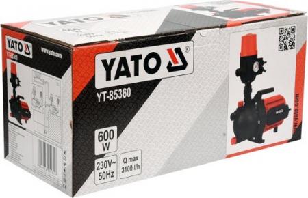 Pompa de Suprafata YATO, de Presiune Constanta, 600W, 3100 l/h [4]