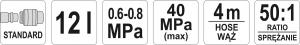 Pompa Pneumatica YATO, Pentru Gresat, 12l, 4m2