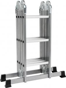 Scara multifunctionala VOREL, otel/aluminiu, 3.4m, 4X3 trepte [0]