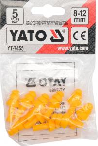 Set antifoane YATO, tip dop, 8-12mm, silicon, 5 perechi2