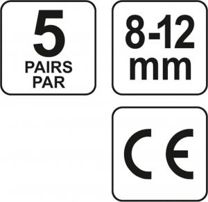 Set antifoane YATO, tip dop, 8-12mm, silicon, 5 perechi [3]