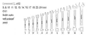 Set Chei Combinate YATO, Satinate, 8 - 24mm, CR-V, 12 buc1