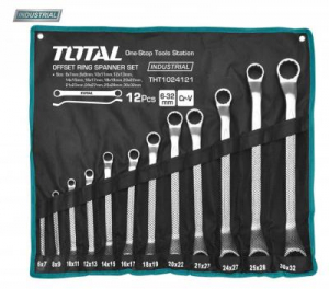 Set Chei Inelare TOTAL, Cotite, CR-V, 6 - 32mm, 12 buc, INDUSTRIAL0