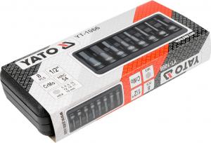 Set Chei Tubulare YATO, De Impact, Hex, 6 - 19mm, CR-Mo, 1/2 Inch, 8buc1