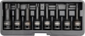 Set Chei Tubulare YATO, De Impact, Torx, T30-T80, CR-Mo, 1/2 Inch, 8buc0
