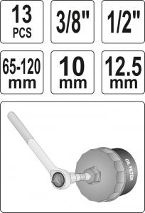 Set Chei Tubulare YATO, Pentru Filtru Ulei, 13buc4
