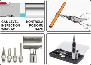 Set ciocan de lipit cu gaz YATO, piezo, 30ml, 30 - 125W, 7piese [5]