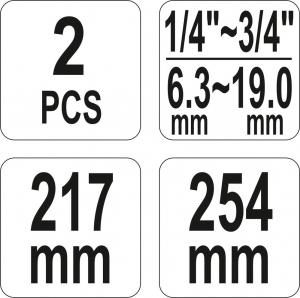 Set Clesti Strangere Coliere Furtun YATO, 217 - 254mm, 2buc [3]