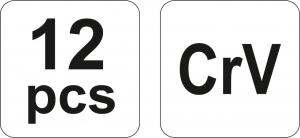 Set Dalti Impact YATO, CR-V, 12 buc3