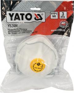 Set masca praf YATO, FFP1, cu valva, 3buc1