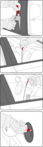 Set Unelte YATO, Pentru Deschidere Usi Auto, 9buc3