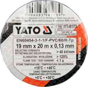 Set YATO, Banda izolatoare, PVC, 19mmX20m, 10buc [1]
