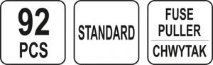 Set YATO, Sigurante Auto, 92 buc, STANDARD2