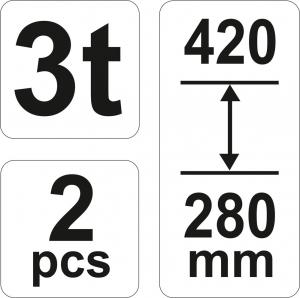 Suport Capra Auto YATO, 3T, 2buc [2]