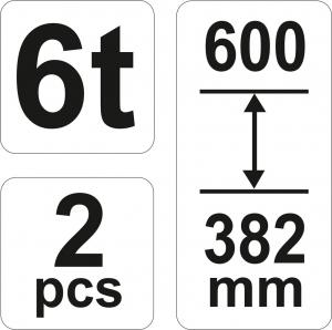 Suport Capra Auto YATO, 6T, 2buc [2]