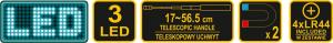Telescop Magnetic VOREL, cu Led, 17 - 56.5cm, 3 led [6]