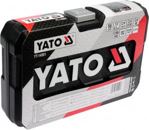 Trusa Chei Tubulare si Biti YATO, CR-V, 1/4 inch, 56 buc2