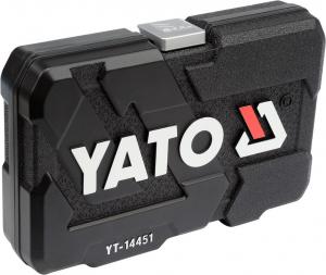 Trusa Chei Tubulare Yato, Antrenor cu Clichet, CR-V, 1/4 inch, 23 buc3