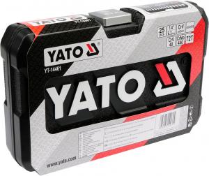 Trusa Chei Tubulare YATO, Antrenor cu Clichet, CR-V, 1/4 inch, 25 buc2