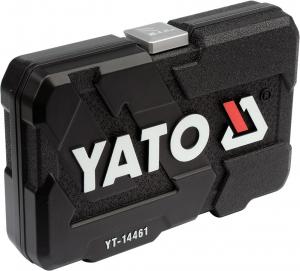 Trusa Chei Tubulare YATO, Antrenor cu Clichet, CR-V, 1/4 inch, 25 buc3