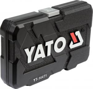Trusa Chei Tubulare YATO, Antrenor cu Clichet, CR-V, 1/4 inch, 38 buc3