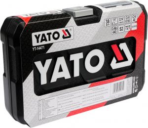 Trusa Chei Tubulare YATO, Antrenor cu Clichet, CR-V, 1/4 inch, 38 buc2