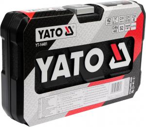 Trusa Chei Tubulare YATO, Antrenor cu Clichet, CR-V, 1/4 inch, 42 buc2